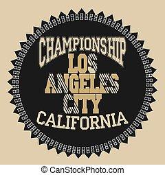Los Angeles Athletics typography stamp, California t-shirt...