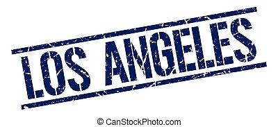 Los Angeles blue square stamp