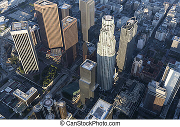 Los Angeles Bunker Hill Towers Aerial