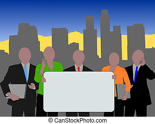 Los Angeles business team