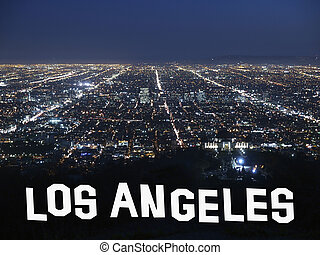 los angeles, califórnia, noturna