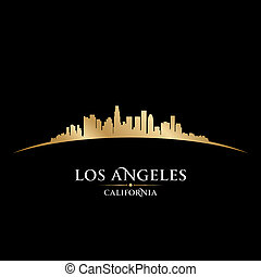 Los Angeles California city skyline silhouette. Vector ...
