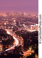 Los Angeles California City Skyline