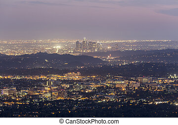 Los Angeles California Dusk View
