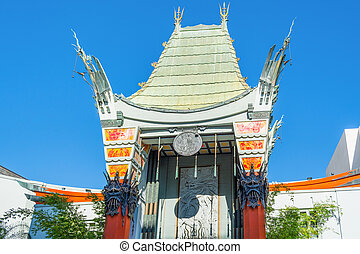 LOS ANGELES, CALIFORNIA - NOVEMBER 02, 2016: Grauman's Chinese Theater on Hollywood Boulevard