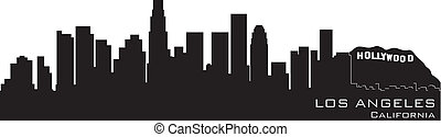 Los Angeles, California skyline. Detailed vector silhouette