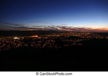 Los Angeles California Suburb Night