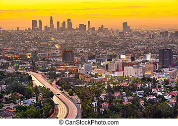 Los Angeles, California, USA Downtown City Skyline