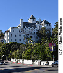 Los Angeles, CA/USA: January 1 2018: Famous Chateau Marmont Hotel on New Years Day