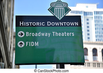 Historic Downtown Los Angeles Sign