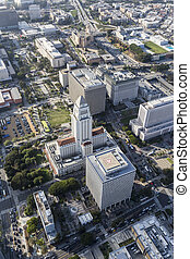 Los Angeles City Hall Aerial