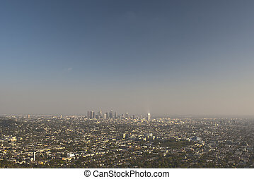 Los Angeles City in California. Aerial View