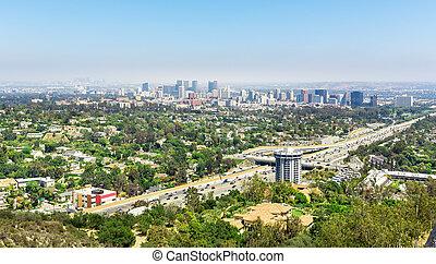 Los Angeles city landscape, California USA