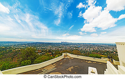 Los Angeles cityscape seen from griffith park