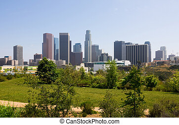 Los Angeles downtown - Skyscrapers in downtown Los Angeles