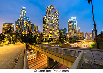 Los Angeles Downtown Sunset