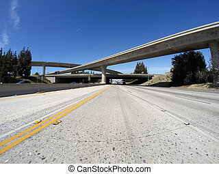 Los Angeles Freeways in San Fernando Valley