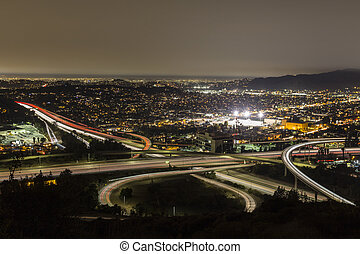 Los Angeles Freeways Night