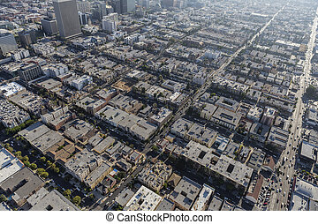 Los Angeles Korea Town Aerial