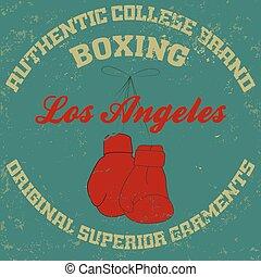 los angeles - Los Angeles typography fashion boxing t-shirt...