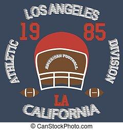 los angeles - Los Angeles typography football american...