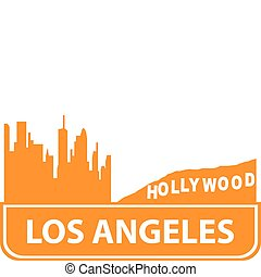 Los Angeles Outline Vector Illustration For You Design