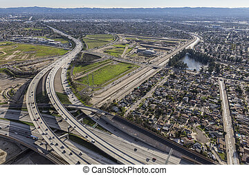 Los Angeles San Fernando Valley Freeway Interchange