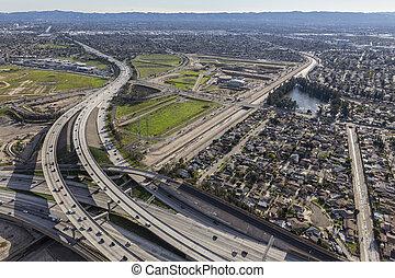 Los Angeles San Fernando Valley Freeway Interchange