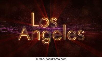 Los Angeles - Shiny looping city name text animation - Los...