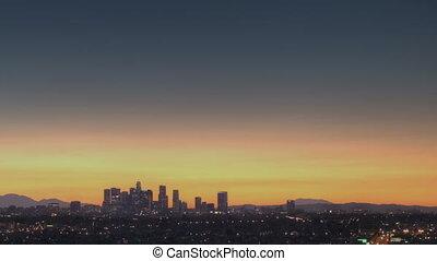 Los Angeles Skyline Sunrise