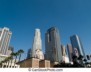 Los Angeles Skyscrapers - Los Angeles downtown area ...