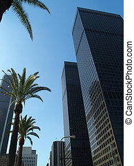Los Angeles skyscrapers - Los Angeles downtown area...