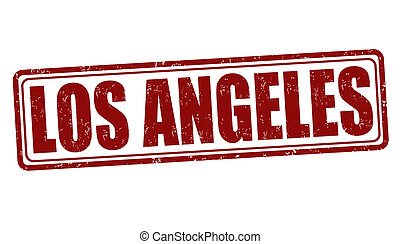 Los Angeles stamp - Los Angeles grunge rubber stamp on...