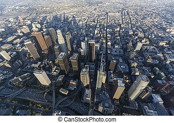 Los Angeles Towers Afternoon Aerial