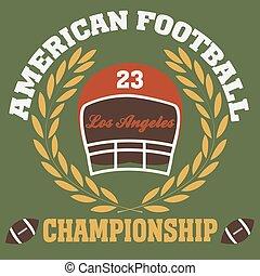 los angeles typography fashion football american, t-shirt...