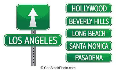 los angeles la street signs