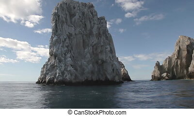 los arcos and los cabos in baja califonia sur, mexico, shot from a boat