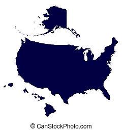 los estados unidos de américa, mapa