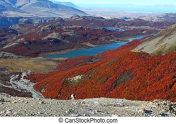 los, fitz, monte., roy, paisaje, vistos, glaciares, parque, argentina, nacional, patagonia, naturaleza, hermoso