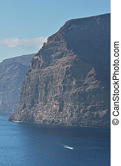 Los gigantes cliffs in Tenerife island, Canary islands, Spain.
