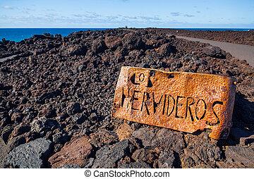 Los Hervideros.