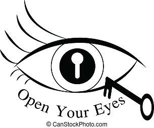 los ojos se abren, su