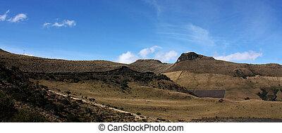 los, paisagem, andino, colômbia, andes