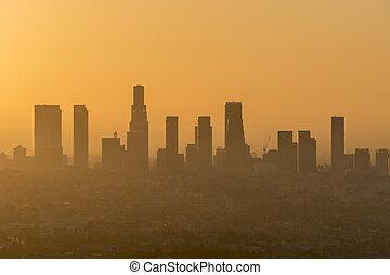 los, smog, ciel orange, angeles