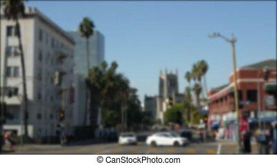 los, usa., driveway., angeles, intérieur, rues, defocused, ...