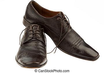 los zapatos de hombres, de, un, hombre de negocios