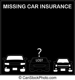 Lose car sign on blackboard for your business in vector...