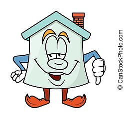 Lose - Cartoon Home Vector