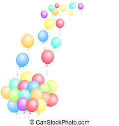 lose, von, luftballone