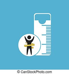 lose weight concept tape measure icon